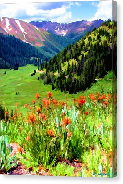 Above The Valley Canvas Print