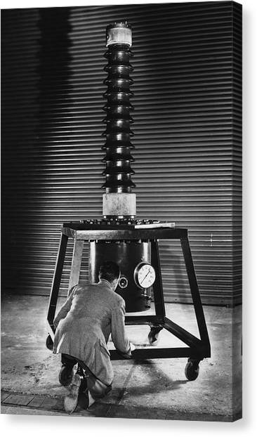 Absolute Voltmeter, 1951 Canvas Print by National Physical Laboratory (c) Crown Copyright