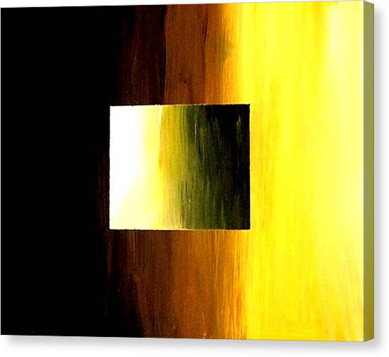 Abstract 3d Golden Square Canvas Print by Teo Alfonso