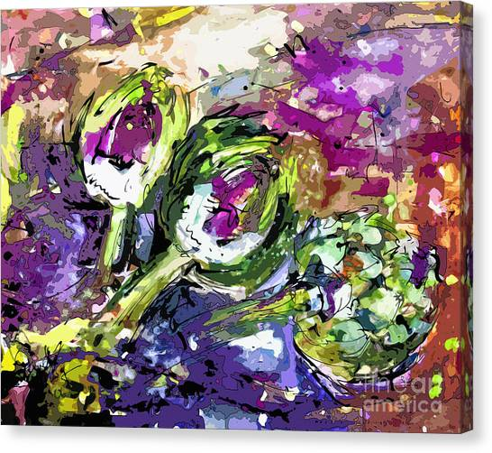 Abstract Artichoke Art By Ginette Canvas Print