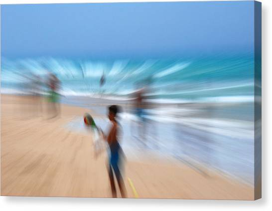 Abstract Beach Canvas Print by Perry Van Munster