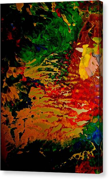 Abstract Colors Canvas Print by Gloria Warren