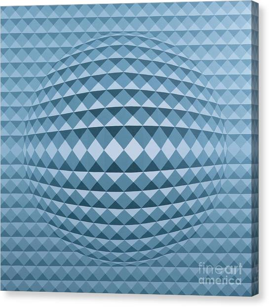 Triangle Canvas Print - Abstract Composition by Peter Szumowski