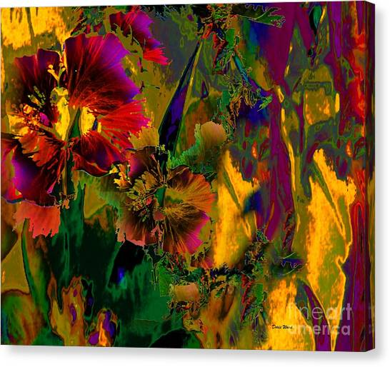 Abstract Flowers Canvas Print by Doris Wood