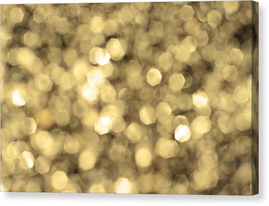 Abstract Lights Golden Canvas Print