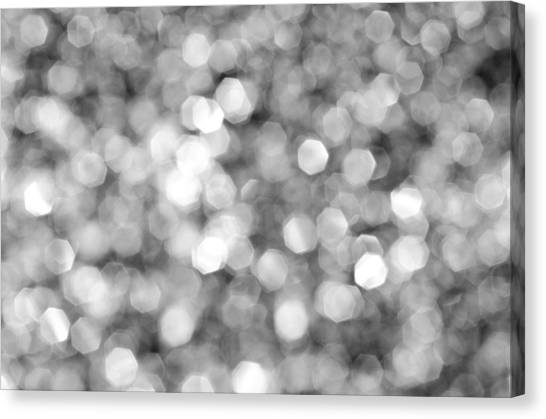Abstract Lights Monochrome Canvas Print
