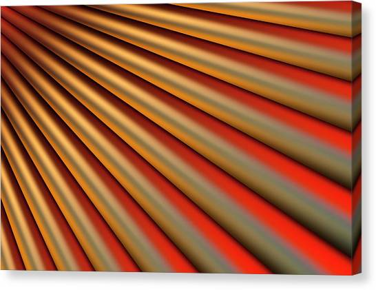 Abstract Line Pattern Canvas Print by Ralf Hiemisch