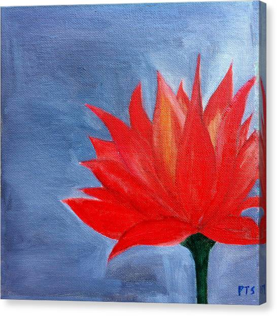 Abstract Lotus Canvas Print by Prachi  Shah