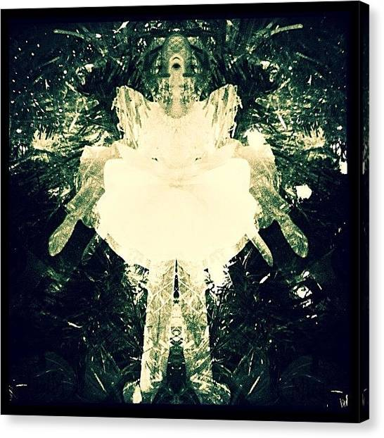 Ballerinas Canvas Print - #abstract #ornament #jj #blackandwhite by Melissa Mariani