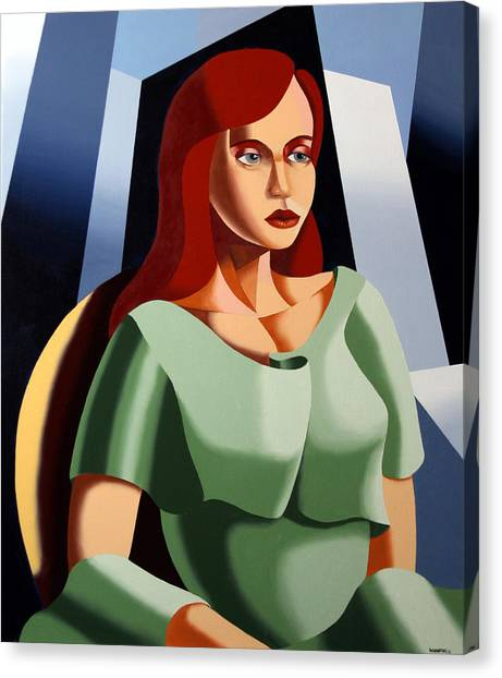 Abstract Portrait Oil And Acrylic Painting By Northern California Artist Mark Webster Canvas Print by Mark Webster