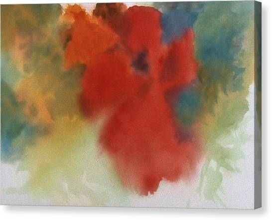 Abstract Red Poppy Canvas Print