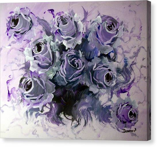 Abstract Roses Bouquet Canvas Print