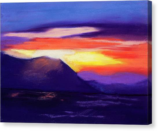 Abstract Sunset Canvas Print by Diana Tripp