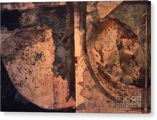 Abstract Trax I Canvas Print by Charles B Mitchell