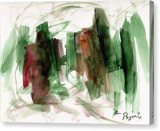 Abstract Watercolor 51 Canvas Print