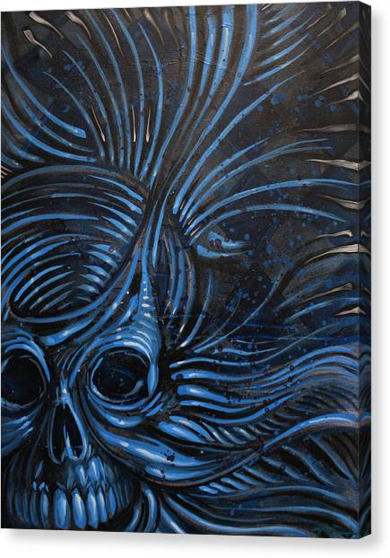Abstracted Skull Canvas Print by Joshua Dixon