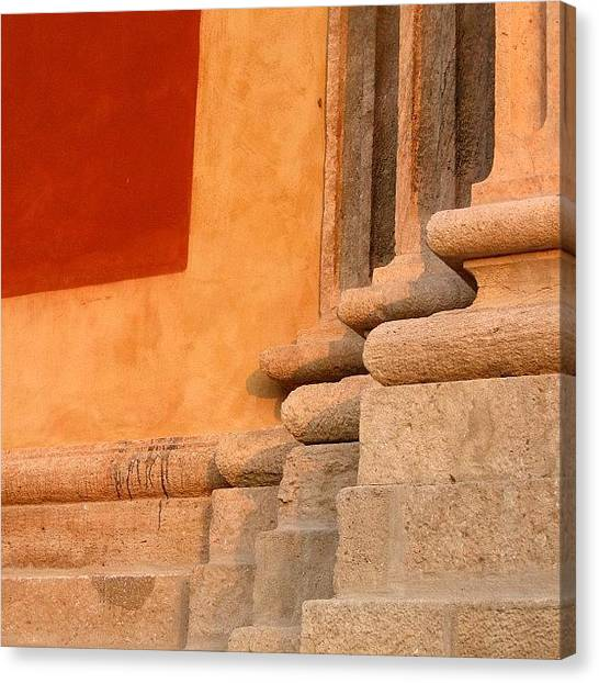 Patterns Canvas Print - Abstraction #basilica #italy #shapes by A Rey