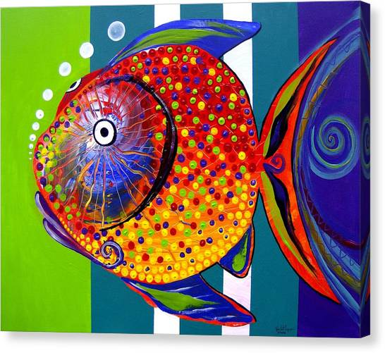 Acidfish 60 Canvas Print