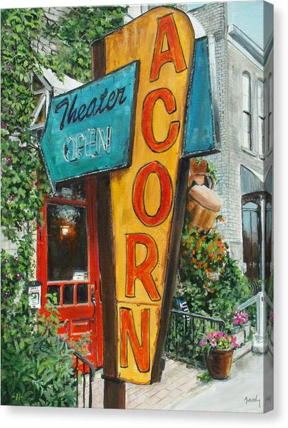 Acorn Theater Canvas Print