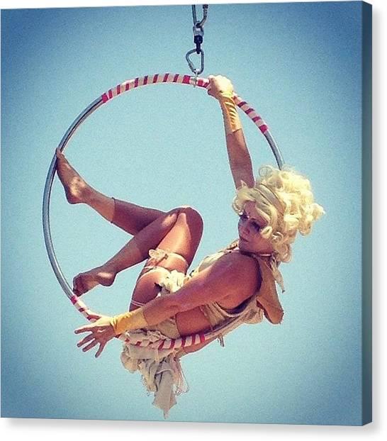 Back Canvas Print - #acrobat #popular #aerial #california by Eva Martinez