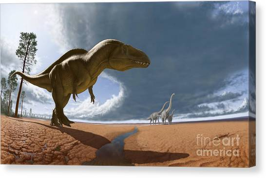 Acrocanthosaurus Canvas Print