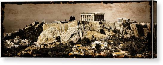 Canvas Print featuring the photograph Athens, Greece - Acropolis by Mark Forte