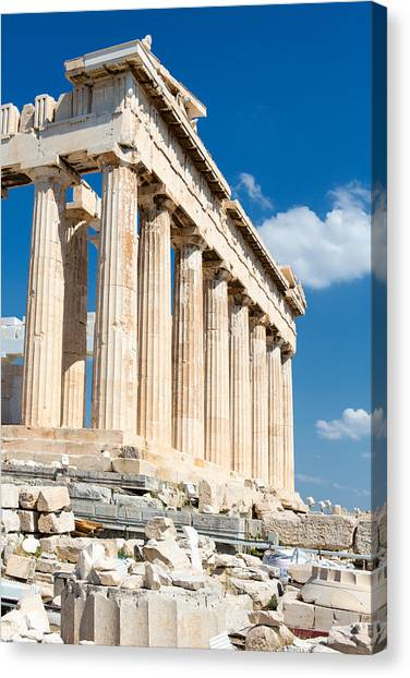 The Parthenon Canvas Print - Acropolis Parthenon 3 by Emmanuel Panagiotakis