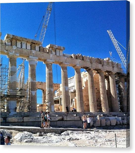 The Acropolis Canvas Print - #acropolis #parthenon #greece #athens by Ryan Glasberg