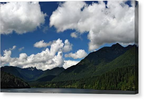 Across Capilano Lake Canvas Print