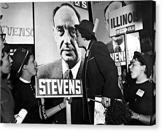 Northwestern University Canvas Print - Adlai Stevenson, Presidential by Everett