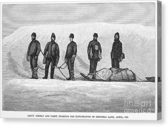 Sleds Canvas Print - Adolphus Greely (1844-1935) by Granger