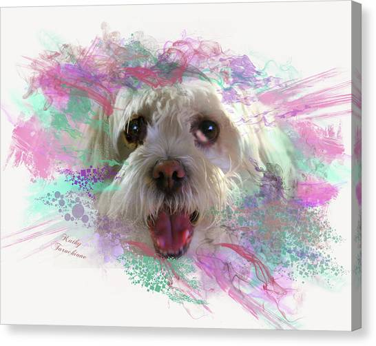 Canvas Print featuring the digital art Adopt Me by Kathy Tarochione