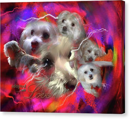 Adopted With Love Canvas Print