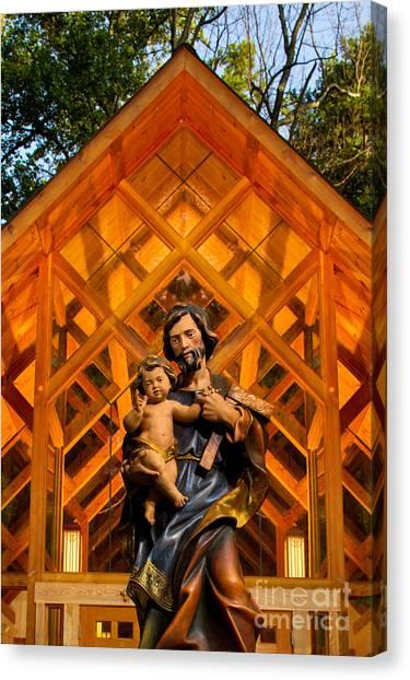 Belmont University Canvas Print - Adoration Chapel At Belmont Abbey College by Patrick Schneider