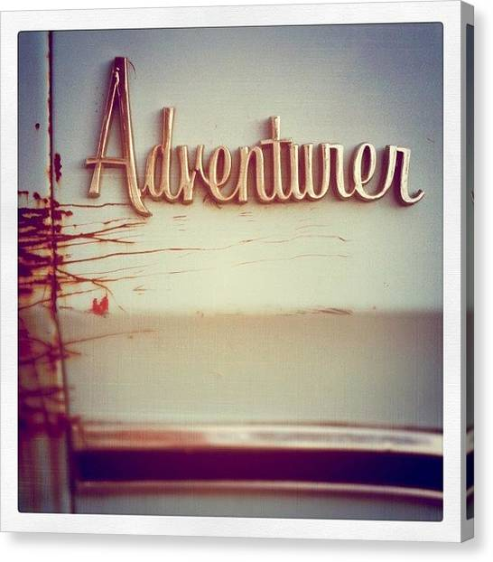Pastel Canvas Print - Adventurer by Florian Divi
