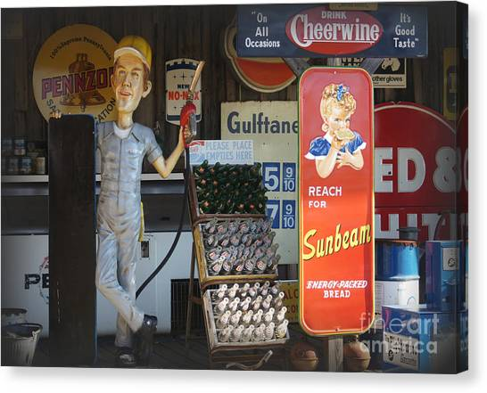 Cheerwine Canvas Print - Advertising Americana by Benanne Stiens