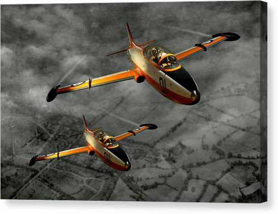 Aermacchi In Flight Canvas Print