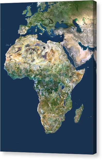 Congo River Canvas Print - Africa, Satellite Image by Planetobserver