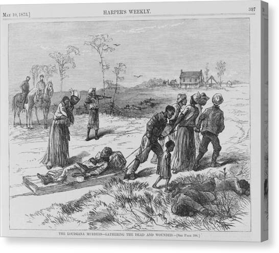 Oppression Canvas Print - African American Gathering The Dead by Everett
