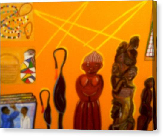 African Arts And Crafts Canvas Print by Annette Stovall