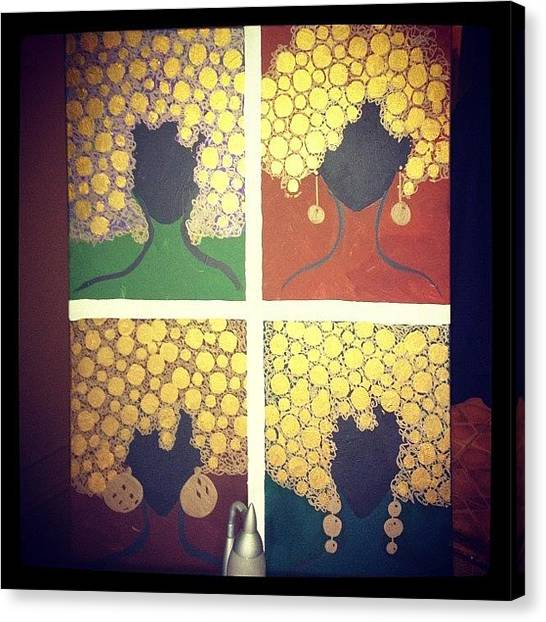 Painters Canvas Print - Afro Inspired :) by Erica Graves
