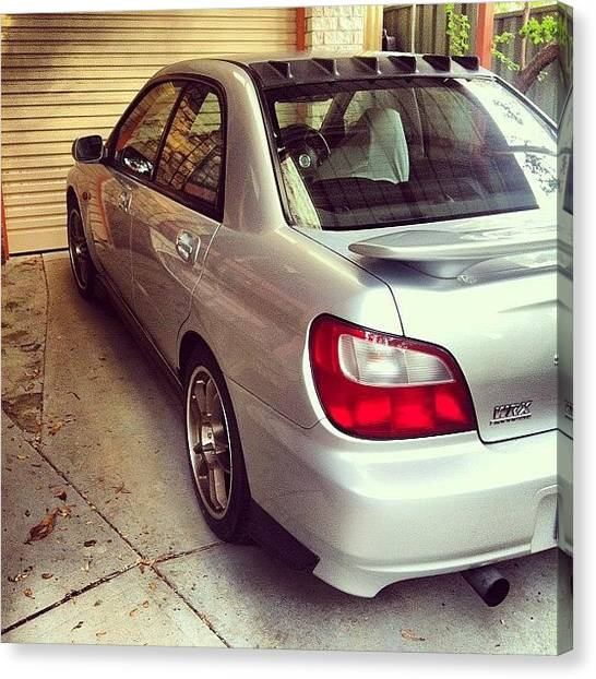 Vodka Canvas Print - After The Repair... #wrx #subaru #cars by Kristin Archie