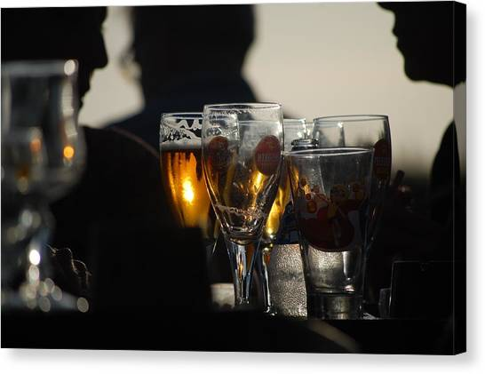 Afternoon Drinks Canvas Print by Dickon Thompson