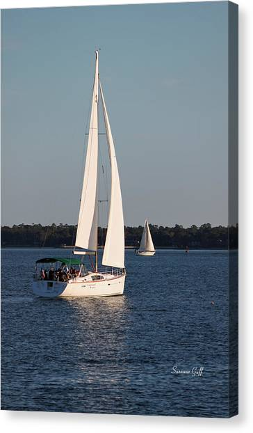 Waterscape Canvas Print - Afternoon For Sailing by Suzanne Gaff