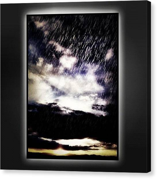 Weather Canvas Print - Afternoon Monsoon by Paul Cutright
