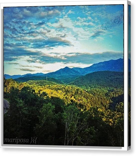 Tennessee Canvas Print - Afternoon Over The Smokies by Mari Posa