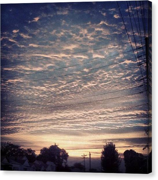 Kentucky Canvas Print - Again; #sunset #germantown #clouds by Andi Bish
