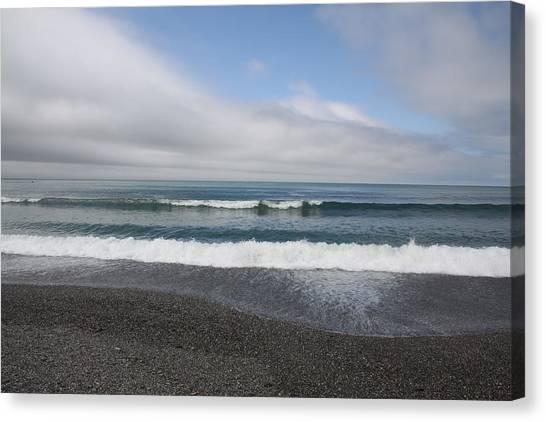 Agate Beach Surf Canvas Print by Michael Picco