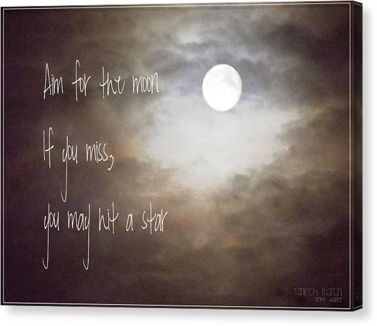 Aim For The Moon Canvas Print