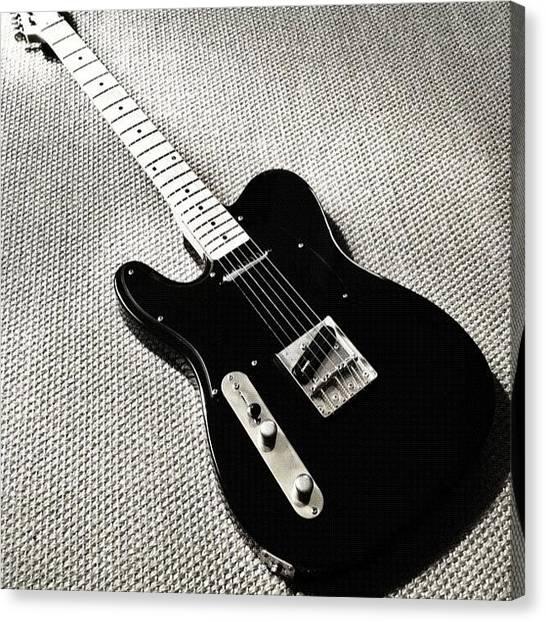 Fender Guitars Canvas Print - Ain't She #gorgeous?! :) Custom by Max Guzzo